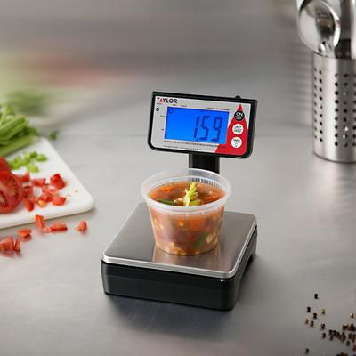 Taylor TE10T 10 lb. Digital Portion Control Scale with To...