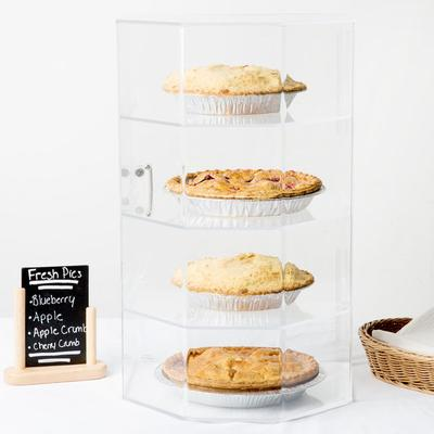 CAL-MIL 252 Classic Four Tier Acrylic Cake and Pie Displa...
