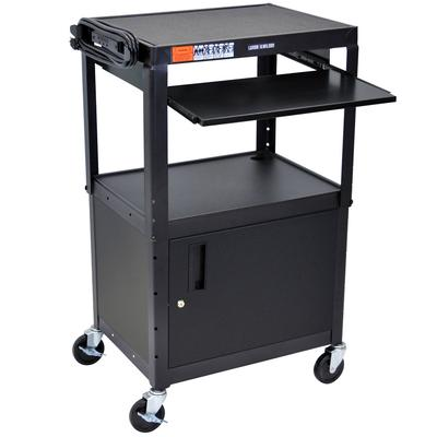 "luxor AVJ42KBC Mobile Computer Cart / Workstation 24"" x 1..."