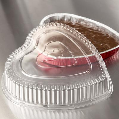 Durable Packaging P9701V Clear Dome Lid for Heart Shaped ...
