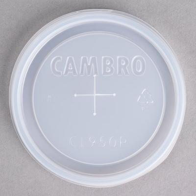 Cambro CL950P Disposable Translucent Lid with Straw Slot ...