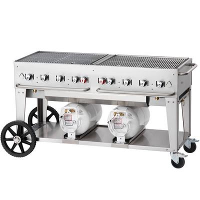 "Crown Verity CCB-60-LP 60"" Outdoor Club Grill with 2 Hori..."