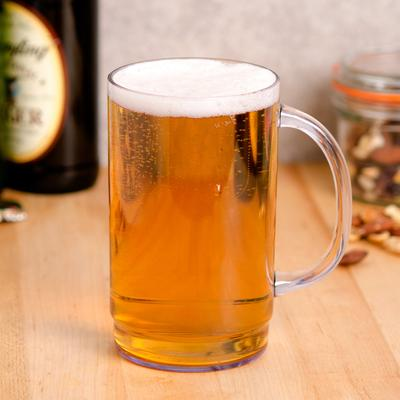 GET Enterprises GET 00083 20 oz. SAN Plastic Beer Mug - 2...