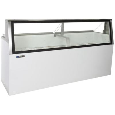 "Master-Bilt DD-88L 91"" Low Glass Ice Cream Dipping Cabinet"