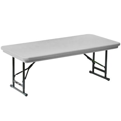 "Correll Adjustable Height Folding Table, 30"" x 60"" Plasti..."