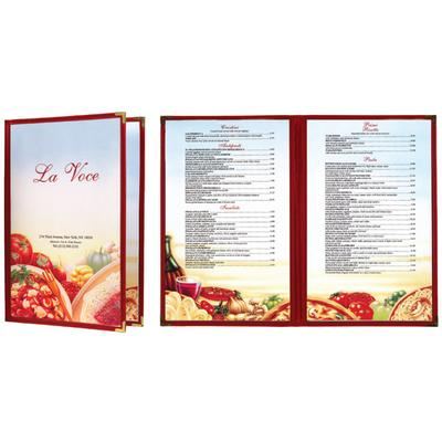 "8 1/2"" x 14"" Menu Paper - Italian Themed Pasta Design Lef..."