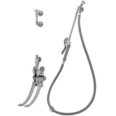 T&S B-0675 Bedpan Washer with Pedal Valves and Wall Hook ...