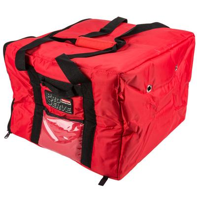 Rubbermaid Fg9f3800 Red Pizza Catering Bag Insulated Nylon 17x17x13