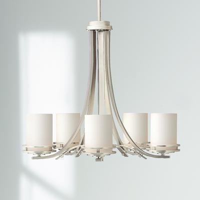 "Kichler Hendrik Nickel 24 1/2"" Wide 5-Light Chandelier"