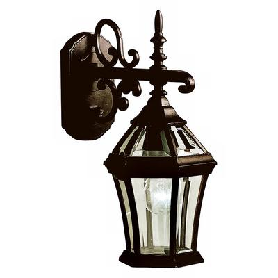 "Kichler Townhouse Black 15 1/2"" High Outdoor Wall Light"