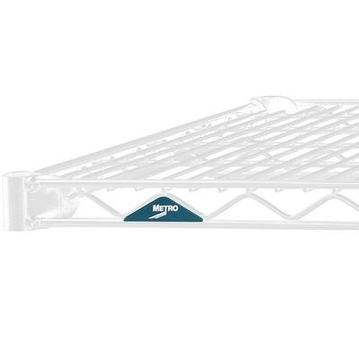 "Metro 1430NW Super Erecta White Wire Shelf - 14"" x 30"""