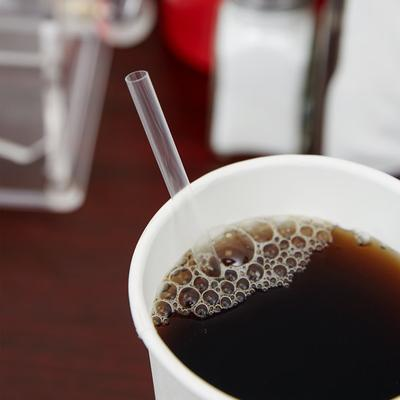 """Choice 7 3/4"""" Jumbo Clear Unwrapped Straw - 12000/Case"""