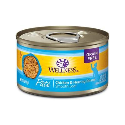 Wellness Complete Health Chicken & Herring Formula Grain-Free Canned Cat Food, 3-oz, case of 24