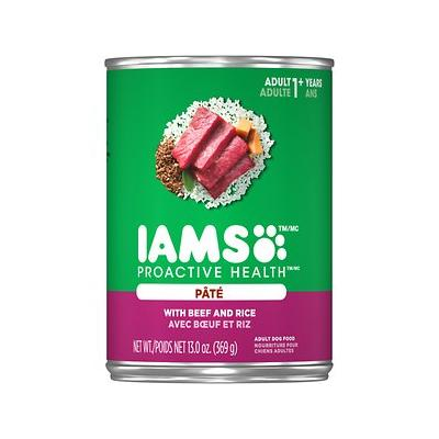 Iams Proactive Health Adult With Beef & Rice Pate Canned ...