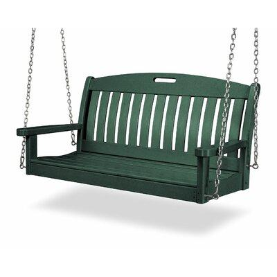 Polywood Hunter Green Recycled Plastic 4-ft. Porch Swing - NS48GR