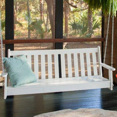 Polywood Vineyard Recycled Plastic 5 ft. Porch Swing White - GNS60WH