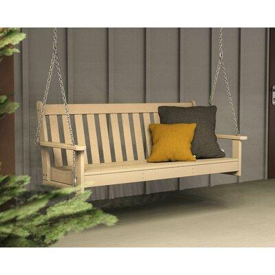 Polywood Vineyard Recycled Plastic 5 ft. Porch Swing Sand - GNS60SA
