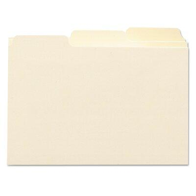Smead Self-Tab Card Guides, Blank, 100/Box SMD56030