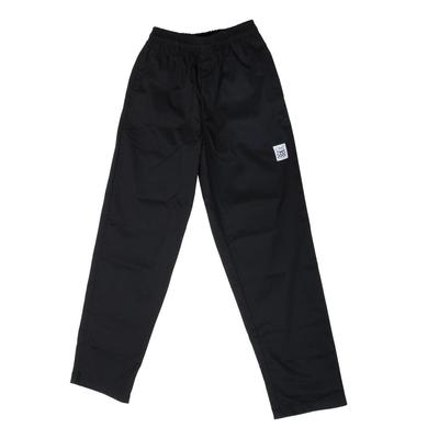 Chef Revival P002BK Size 2X Black EZ Fit Chef Pants - Pol...