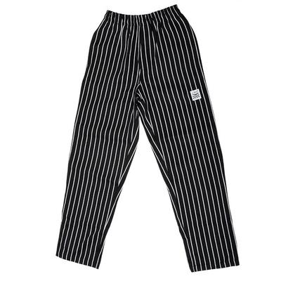 Chef Revival P040WS Size M Black EZ Fit Chef Pants with W...
