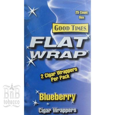 Good Times Blueberry Flat Wraps 2x25 (50ct)
