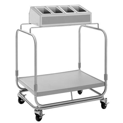Delfield UTSP-1 Tray and Silverware Cart with 4 Silverwar...