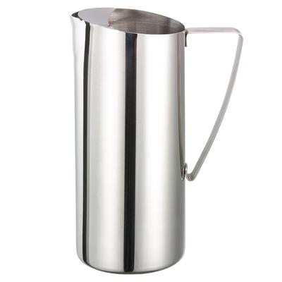 Service Ideas X7025 64-oz Water Pitcher w/ Ice Guard, Stainless, Chrome Finish