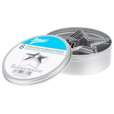 Ateco 7805 6-Piece Stainless Steel Plain Star Cutter Set ...