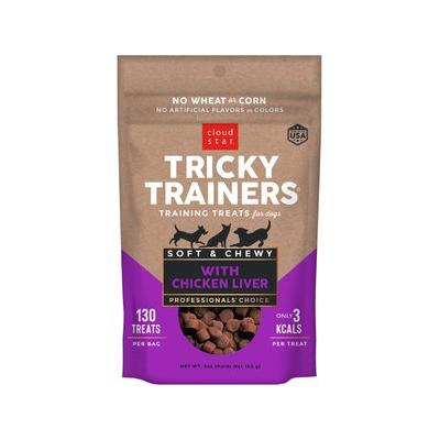 Cloud Star Chewy Tricky Trainers Liver Flavor Dog Treats,...