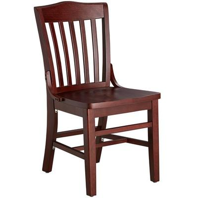 Lancaster Table & Seating Mahogany Finish Wooden School H...