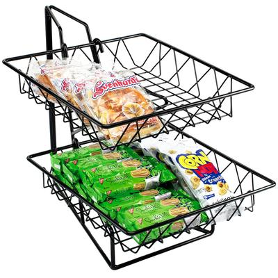 CAL-MIL 1293-2 Two Tier Merchandiser with Square Wire Bas...
