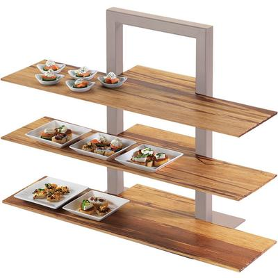 "CAL-MIL 1449-68 Crushed Bamboo 11 1/2"" x 32"" Shelf for 3 ..."