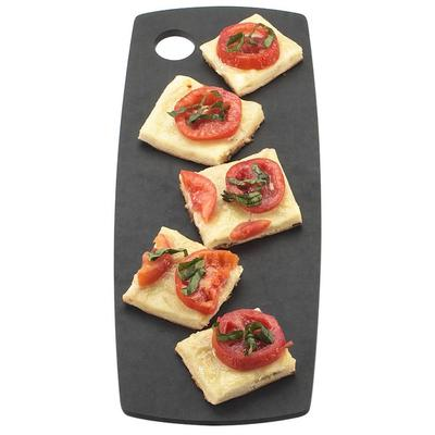CAL-MIL 1531-616-13 Black Round Edge Rectangle Flat Bread...