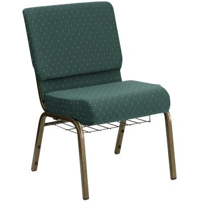 Flash Furniture FD-CH0221-4-GV-S0808-BAS-GG Hunter Green ...