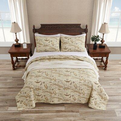 Home Map 3 Piece Reversible Quilt Set by Tommy Bahama Bedding 187049-50-51 Size: Full / Queen