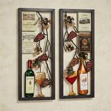 Valley Vineyard Wall Art Set, Set of Two | White Wine Red