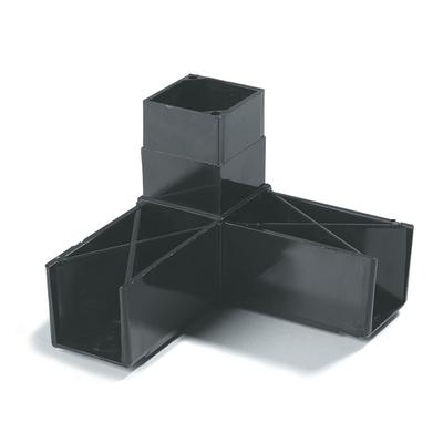 "Carlisle Food Service Products Sneeze Guard Blocks 1-1/4"" 3 Prong Assembly 900303"