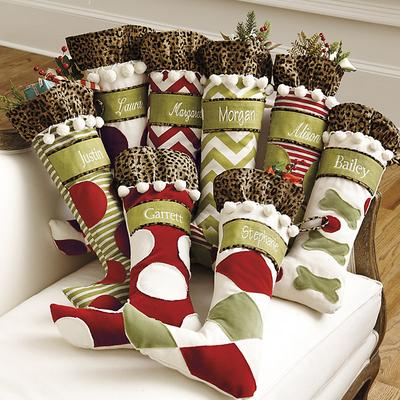 Ballard Designs Personalized Christmas Stockings Red and ...