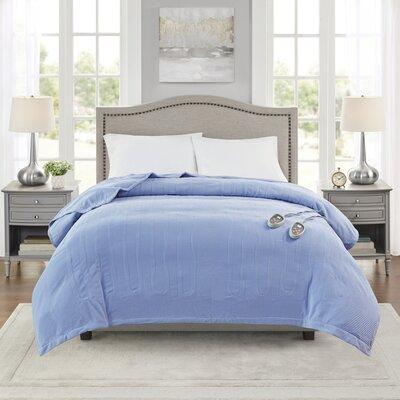 Beautyrest Blanket BR54-01xx Size: Full Color: Blue