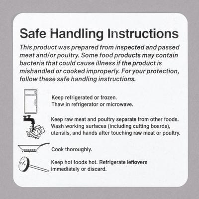 """Noble Products 2"""" x 2"""" Safe Food Handling Instructions Pe..."""