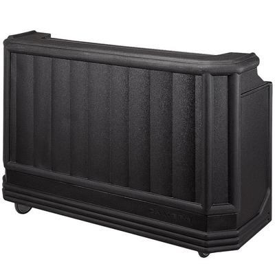 """Cambro BAR730PM110 Black Cambar 73"""" Portable Bar with 7-Bottle Speed Rail and Complete Post Mix System"""