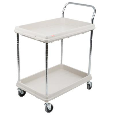Metro BC2030-2DG Gray Utility Cart with Two Deep Ledge Sh...