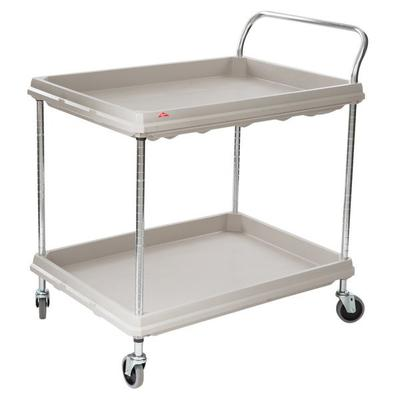 Metro BC2636-2DG Gray Utility Cart with Two Deep Ledge Sh...