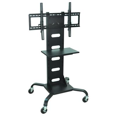 "luxor WPSMS51 Flat Panel TV Cart with Shelf for 37"" to 60..."