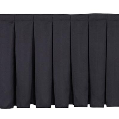 National Public Seating SB32-36 Black Box Stage Skirt for...
