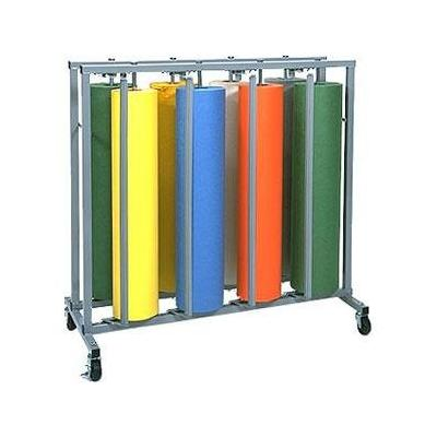 "Bulman R999 36"" Vertical 8 Roll Paper Rack"