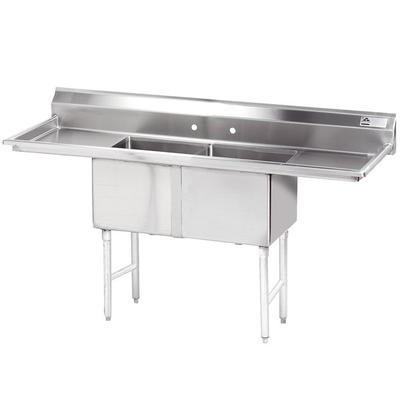 Advance Tabco FC-2-1824-18RL Two Compartment Stainless St...