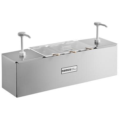 """Nemco 88100-CB-1 26"""" Stainless Steel Condiment Bar with T..."""