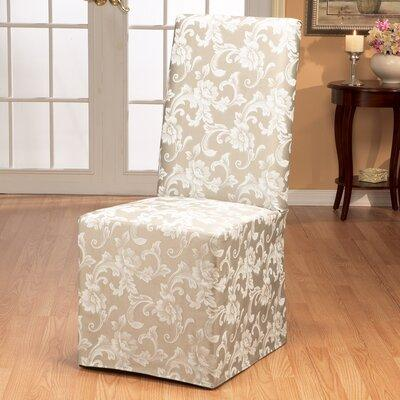 Sure Fit Scroll Classic Box Cushion Dining Chair Slipcove...