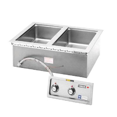 Wells MOD227TDM 2 Well 4/3 Size Drop-In Hot Food Well wit...